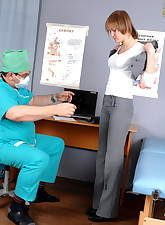 Naughty male doctor inspects..