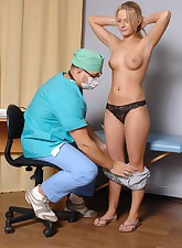 Undressed girl passes the..