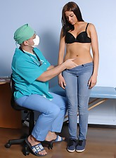 Perky doctor undresses a..