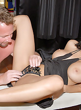 Watch kaya cruz earn some money for her hubby as she suckes cock as she enjoys herself by fingering her pussy