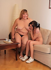Chubby mature lesbian and..