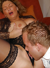 Horny big titted housewife..