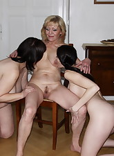 Two mature sluts take on a..