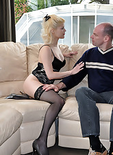 A blonde porn star shagging..
