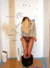 Shy blonde girl lured into a..
