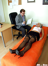 Horny paid doctor examins..