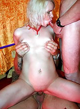 Horny senior gets dirty with..