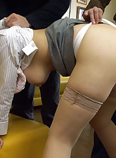 Japanese teen girl enjoys..
