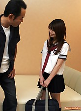 Japanese schoolgirl stuffed..