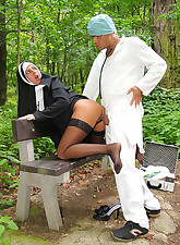 Sexy blonde nun giving great..