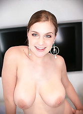 brunette with huge tits..