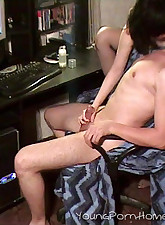 Young couple gets nasty while watching porn