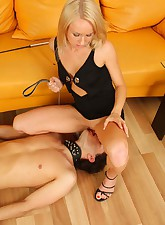 Brutal mistress with a..