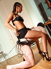 Strict long-haired mistress..