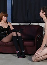 Pathetic slave almost loses..